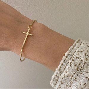 Cross Bracelet | 14k Gold Plated